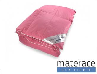 Kołdra naturalna puchowa różowa Enio Materace Dla Ciebie